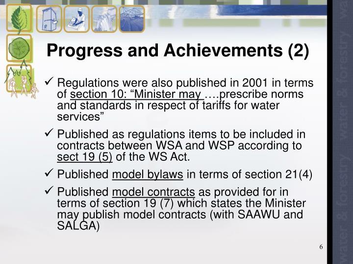 Progress and Achievements (2)