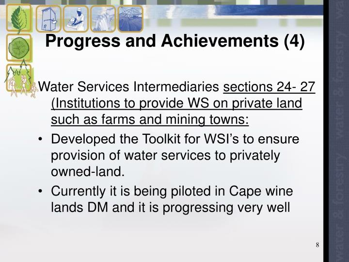 Progress and Achievements (4)