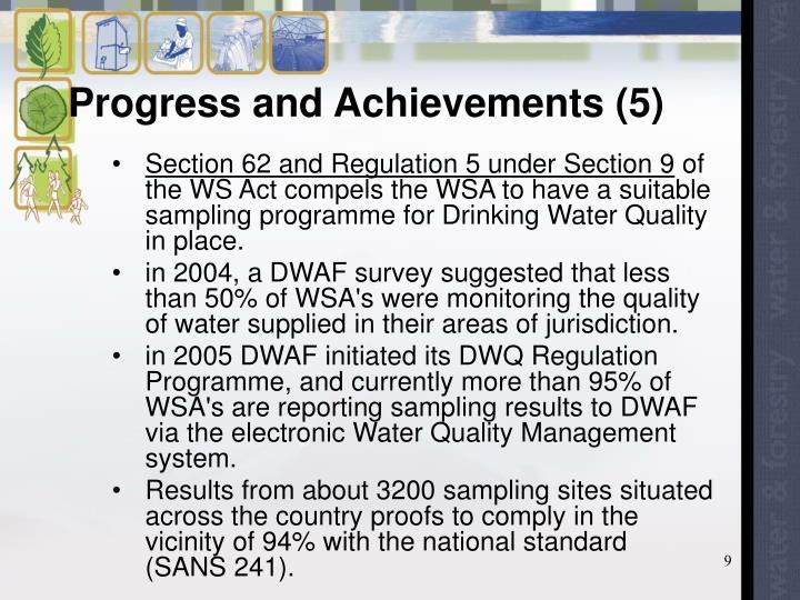 Progress and Achievements (5)