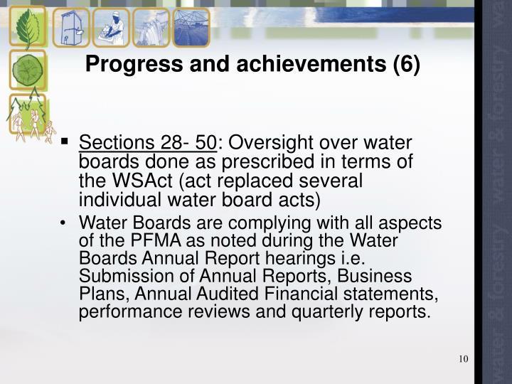 Progress and achievements (6)