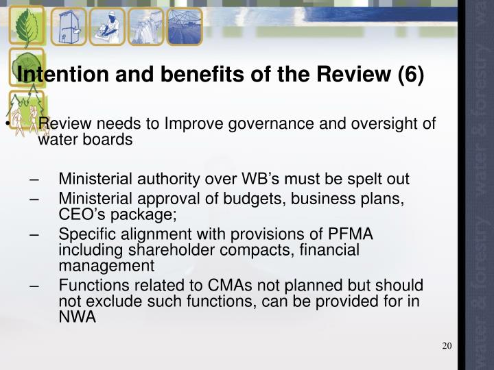 Intention and benefits of the Review (6)