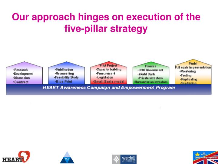 Our approach hinges on execution of the five-pillar strategy