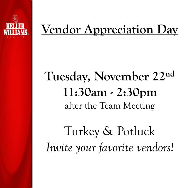 Vendor Appreciation Day