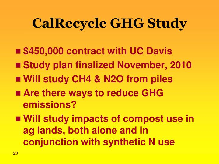 CalRecycle GHG Study
