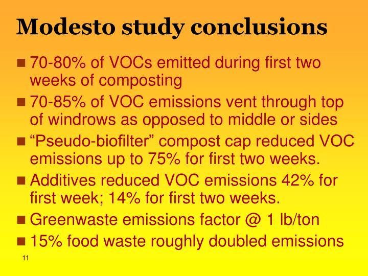 Modesto study conclusions
