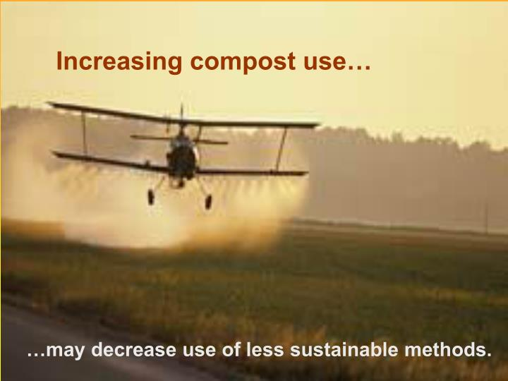 Increasing compost use…