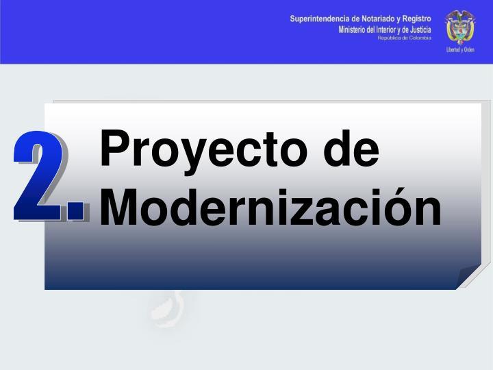 Proyecto de Modernización