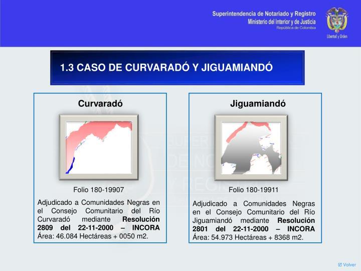 1.3 CASO DE CURVARADÓ Y JIGUAMIANDÓ