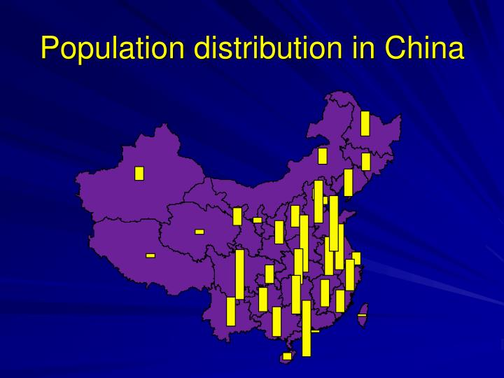 Population distribution in China