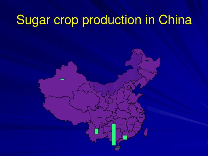 Sugar crop production in China