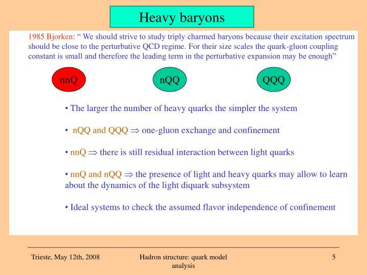 Heavy baryons