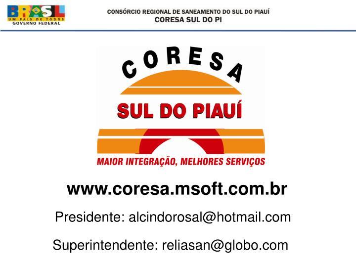www.coresa.msoft.com.br