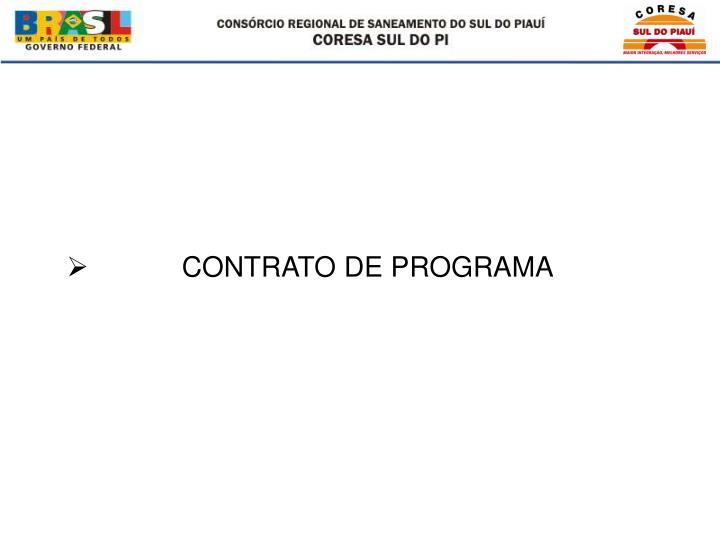 CONTRATO DE PROGRAMA