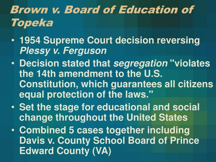 brown vs. board of education + term paper On racist speech in his article on racist speech, charles r lawrence iii also tries to he gives many reasons why, but the three most prominent are brown vs the board of education, the fighting words free essays, book reports, term papers and research papers essays sign up sign.