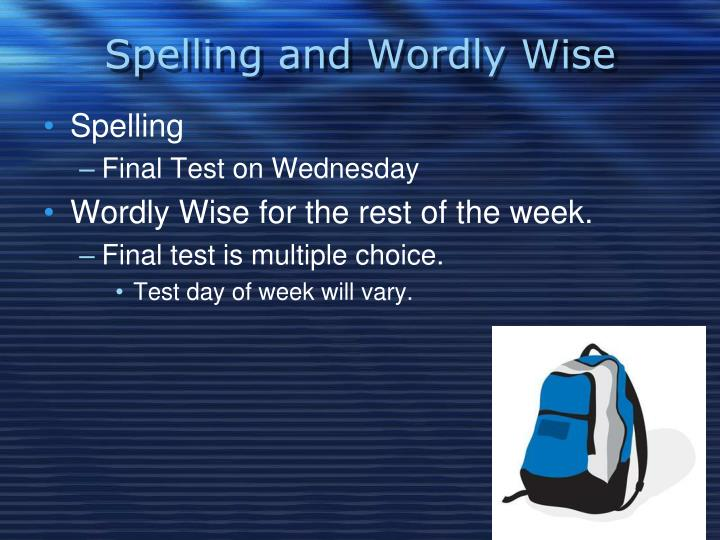 Spelling and