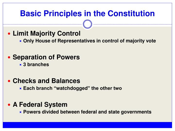Basic Principles in the Constitution