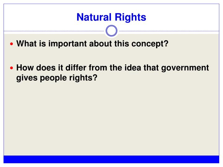 Natural Rights
