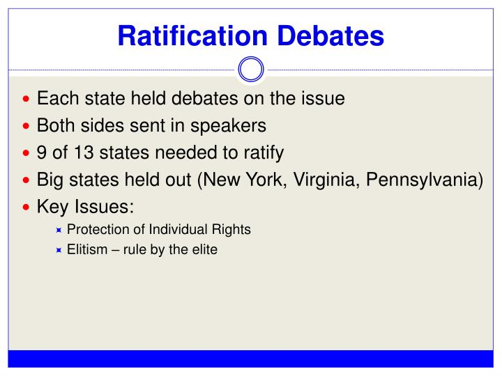 Ratification Debates