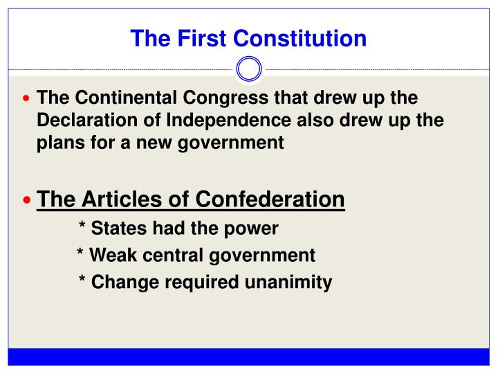 The First Constitution
