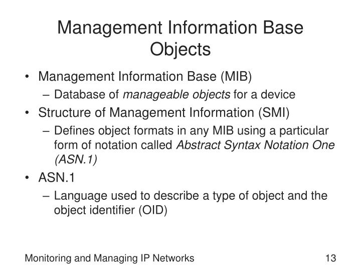 Management Information Base Objects