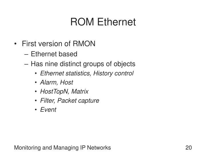 ROM Ethernet