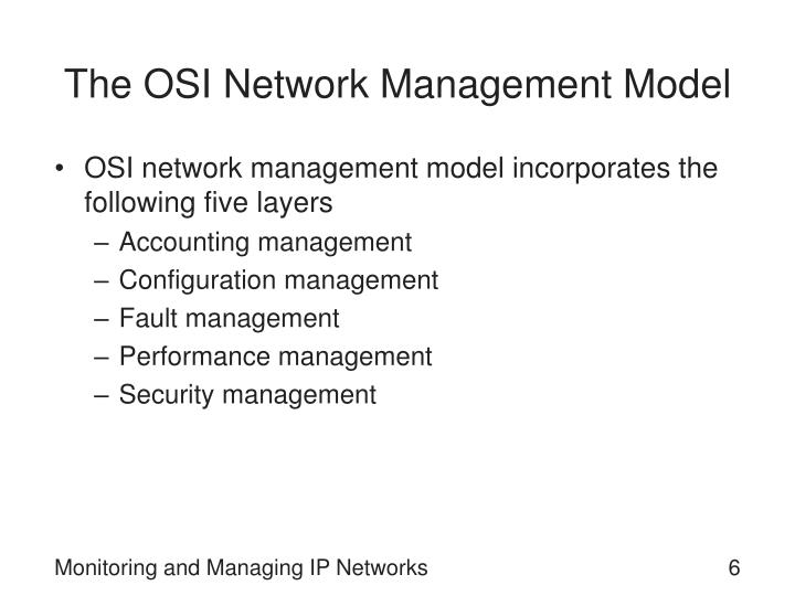The OSI Network Management Model
