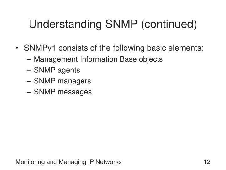 Understanding SNMP (continued)