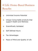 4 life home based business benefits