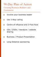 90 day plan of action creating business builders and customers