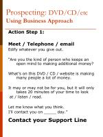 prospecting dvd cd etc using business approach