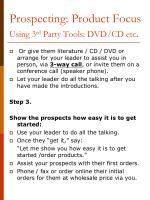 prospecting product focus using 3 rd party tools dvd cd etc2
