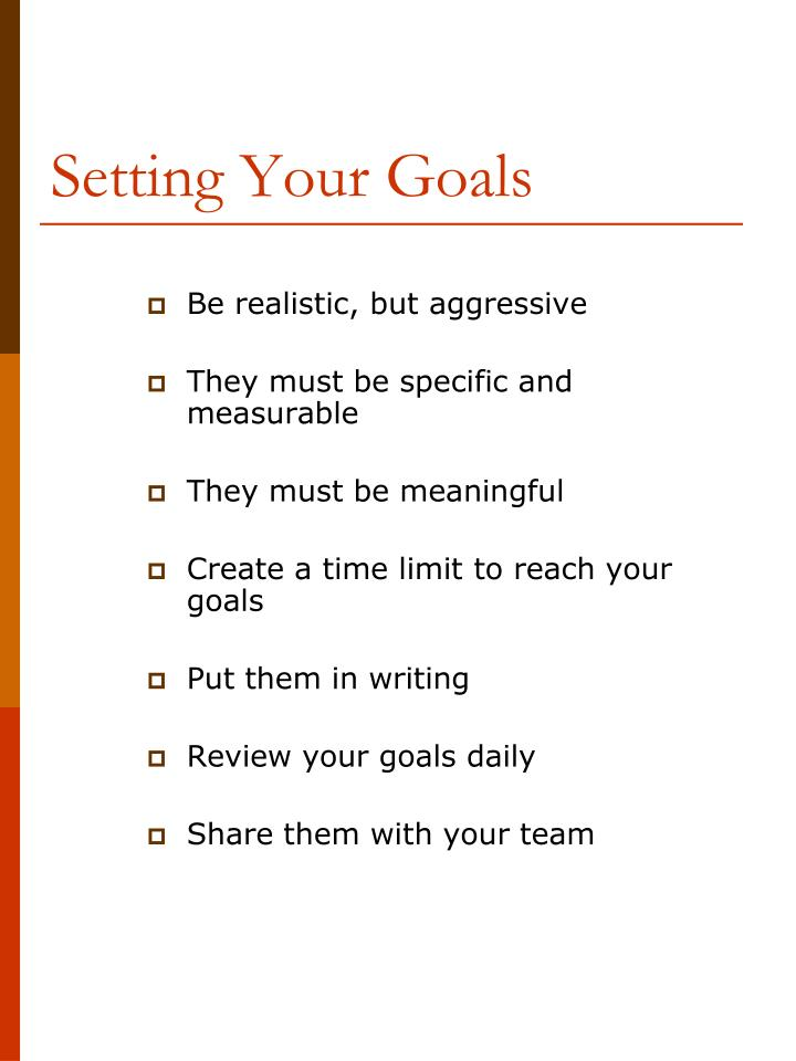 Setting Your Goals