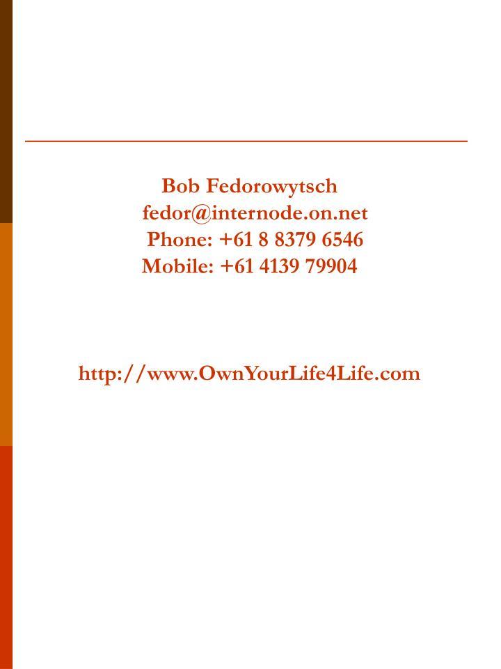 Bob Fedorowytsch