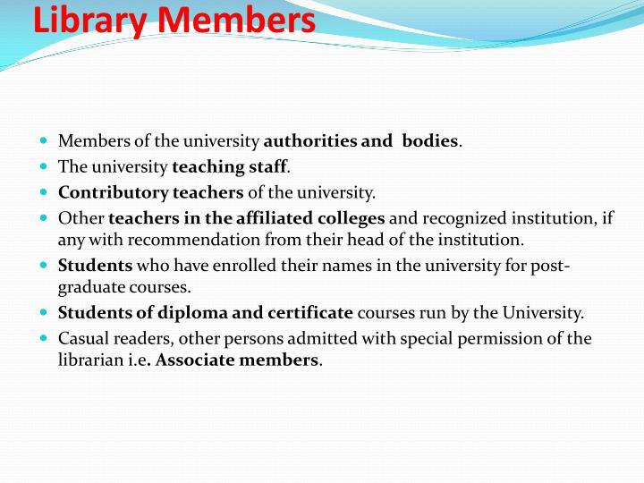 Library Members