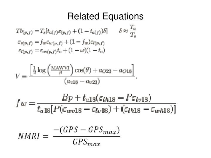 Related Equations