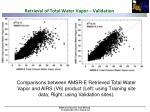 retrieval of total water vapor validation