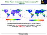 water vapor comparison of the two version umt products