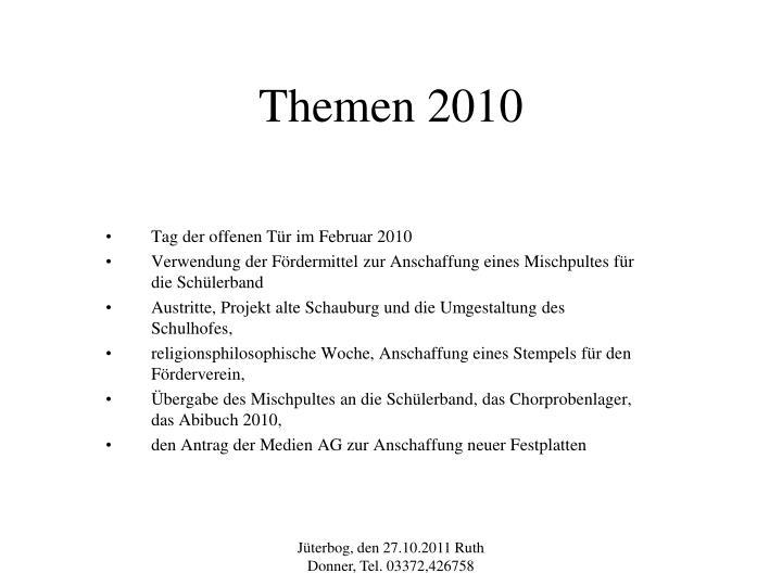 Themen 2010