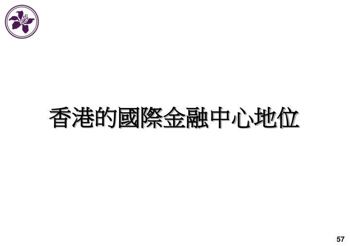 香港的國際金融中心地位