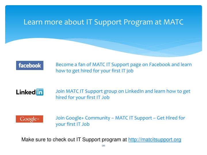 Learn more about IT Support Program at MATC