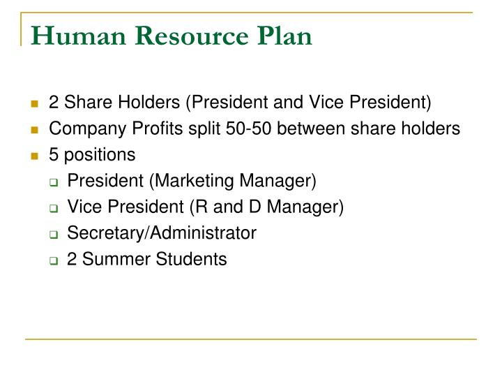 Human Resource Plan