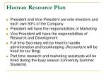 human resource plan1