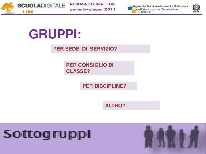 GRUPPI: