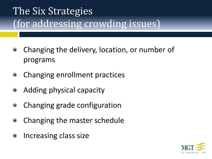 The Six Strategies