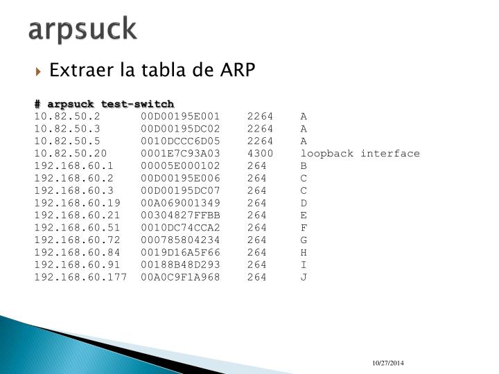 arpsuck
