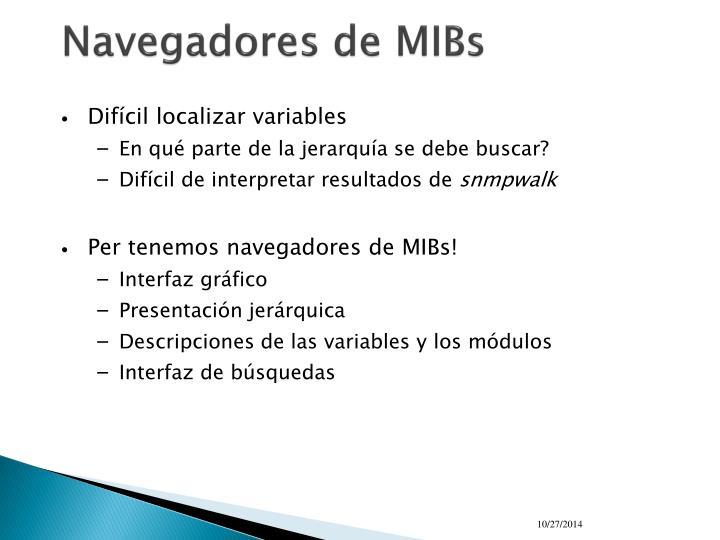 Navegadores de MIBs
