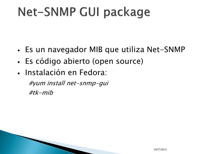 Net-SNMP GUI package
