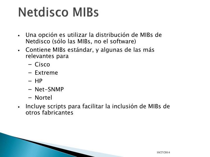 Netdisco MIBs