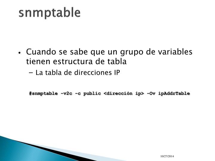 snmptable