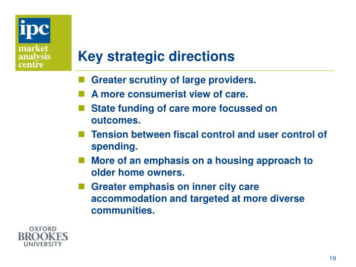 Key strategic directions